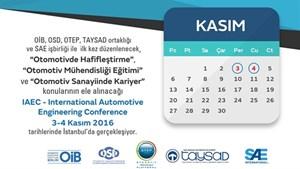 Ajandanıza Kaydedin! IAEC – International Automotive Engineering Conference