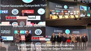En Başarılı STK Ödülüne TÜRKONFED Değer Görüldü
