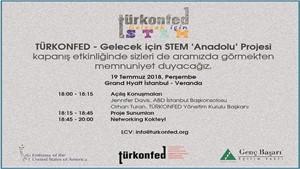 TÜRKONFED Gelecek için STEM Anadolu Projesi Kapanış Etkinliğine Davetlisiniz