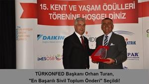 TÜRKONFED Başkanı Orhan Turan En Başarılı Sivil Toplum Önderi Seçildi