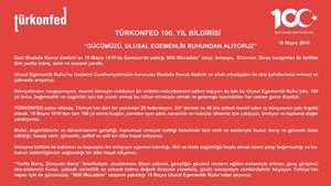 TÜRKONFED: Milli Mücadele'nin 100. Yılı Basın Açıklaması - 19 Mayıs 2019