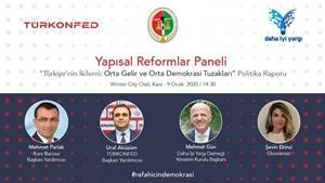 TÜRKONFED ve Daha İyi Yargı Derneği İşbirliğindeki Yapısal Reformlar Paneli Karsta Gerçekleşiyor