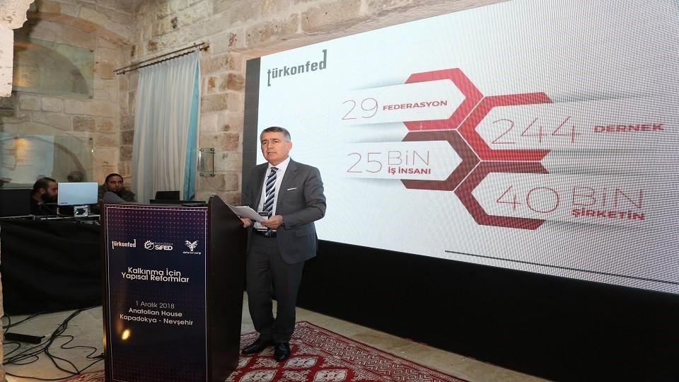 1 Aralık  2018 / TÜRKONFED Başkanı Orhan Turan ODT Nevşehir Toplantısı Konuşma Metni