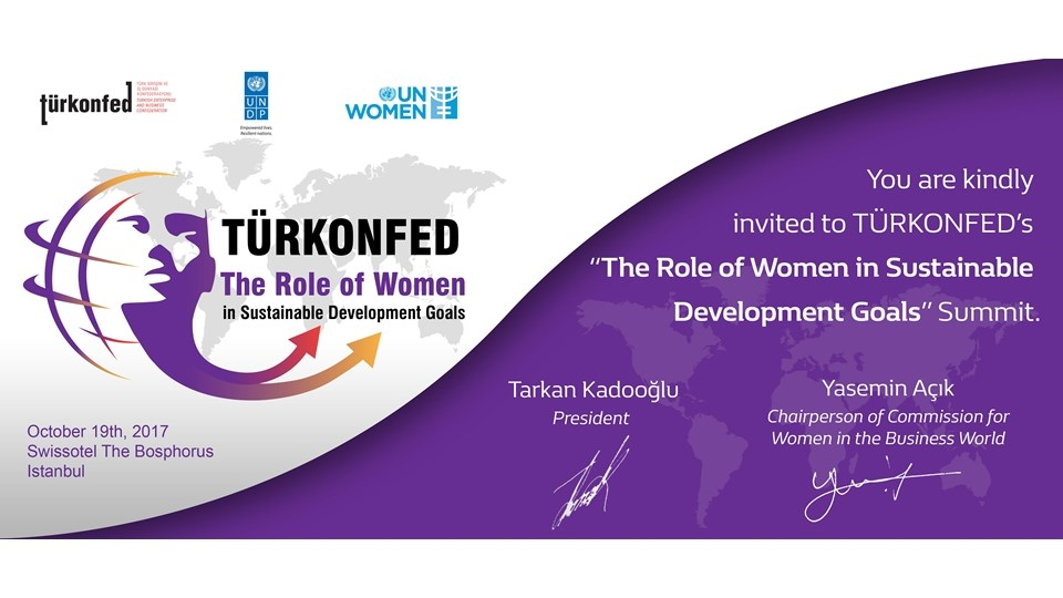 """The Role of Women in Sustainable Development Goals"" October 19th, 2017 - Istanbul"