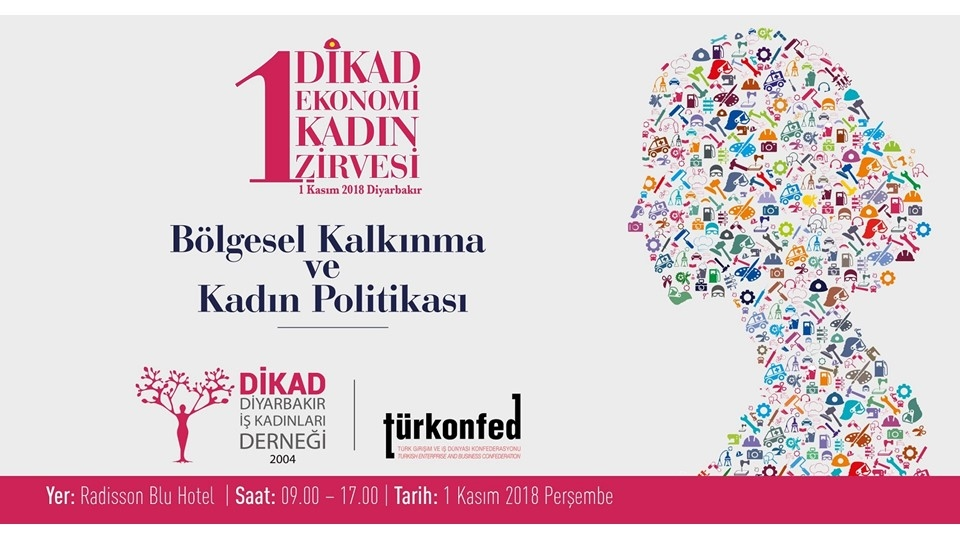 DİKAD 1.Ekonomi Kadın Zirvesi Diyarbakır'da Düzenlenecek