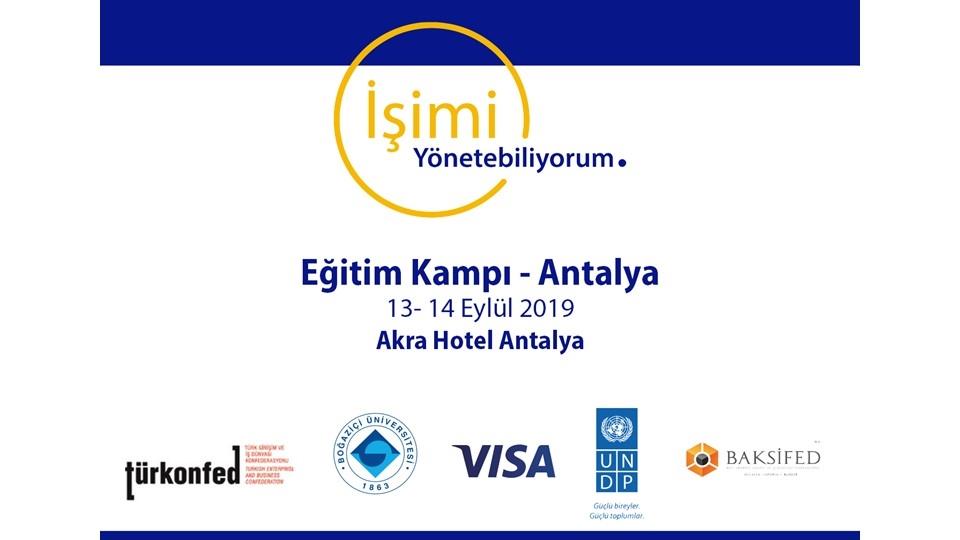 KOBİ'lerde Sürdürülebilirlik için İşimi Yönetebiliyorum Antalya'da!