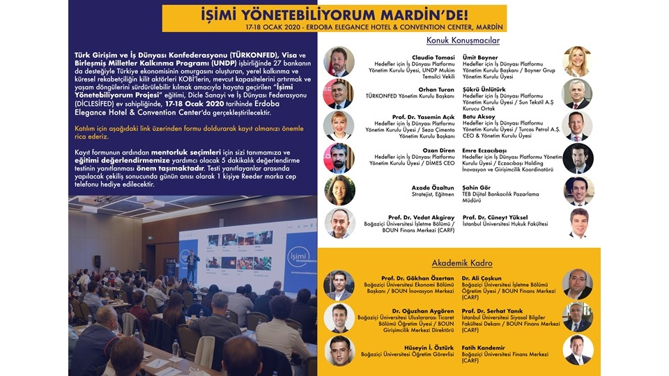 İşimi Yönetebiliyorum Eğitimi Ocak 2020'de Mardin'de!