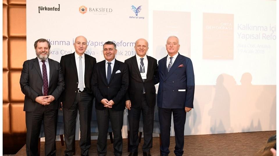 Kalkınma İçin Yapısal Reformlar Toplantısı'nın Altıncısı Antalya'da Düzenlendi