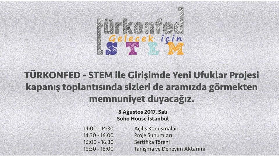 STEM ile Girişimde Yeni Ufuklar Projesi Kapanış Toplantısı