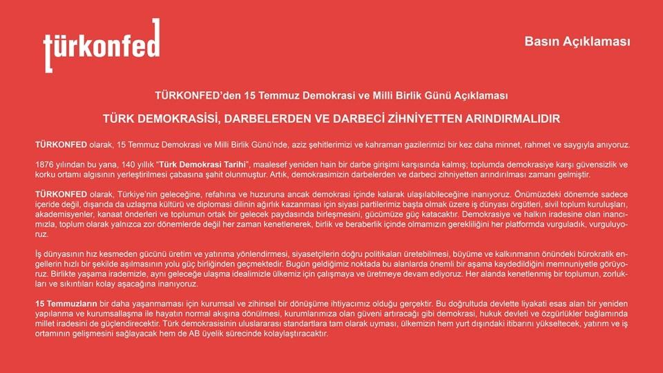 Türk Demokrasisi Darbelerden ve Darbeci Zihniyetten Arındırılmalıdır