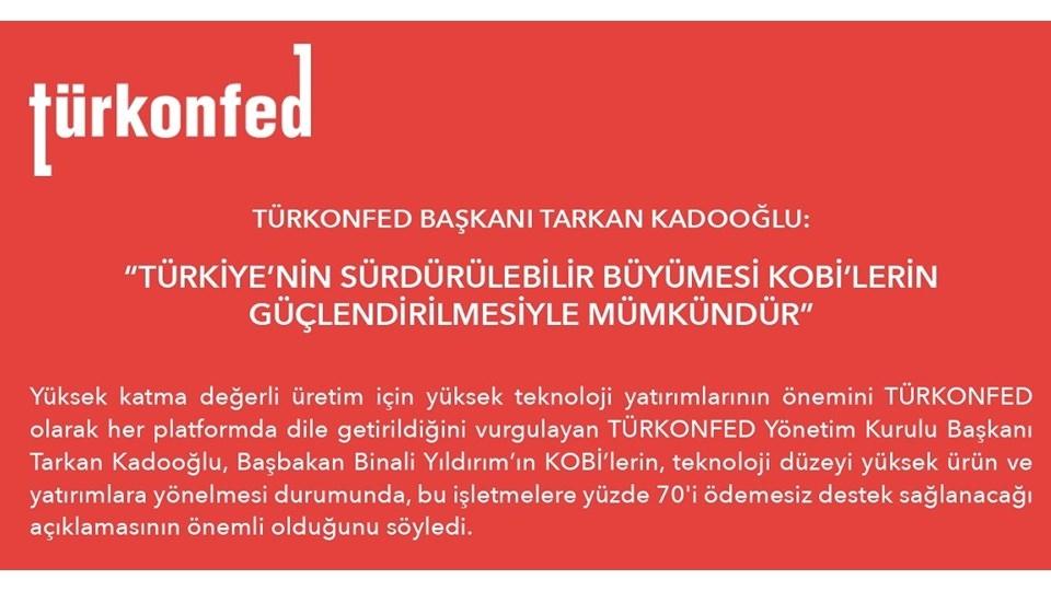 Türkiyenin Sürdürülebilir Büyümesi KOBİlerin Güçlendirilmesiyle Mümkündür