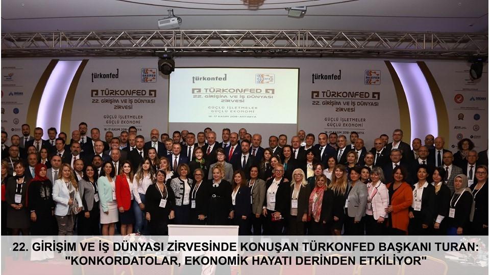 Türk İş Dünyası TÜRKONFED Hatay Zirvesinde Buluştu