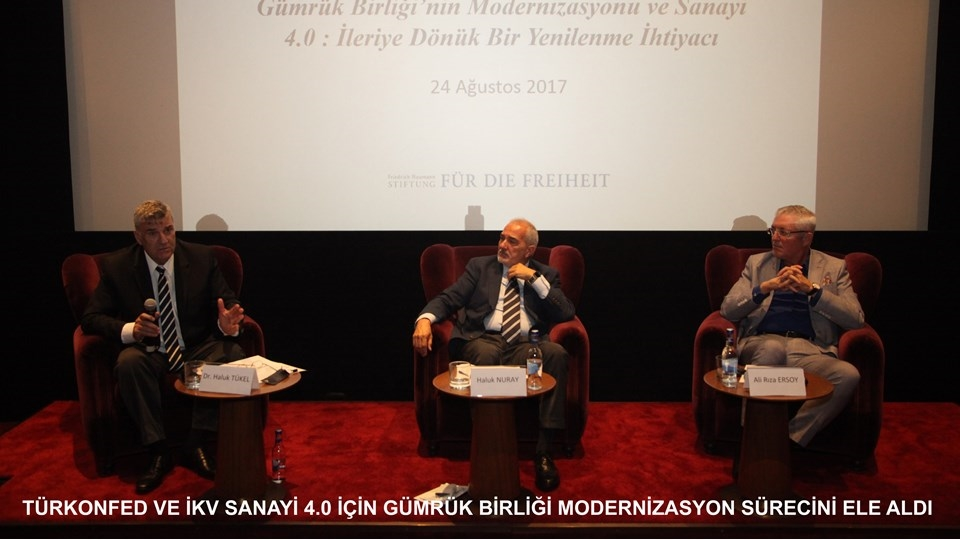 TÜRKONFED ve İKV Sanayi 40 için Gümrük Birliği Modernizasyon Sürecini Ele Aldı