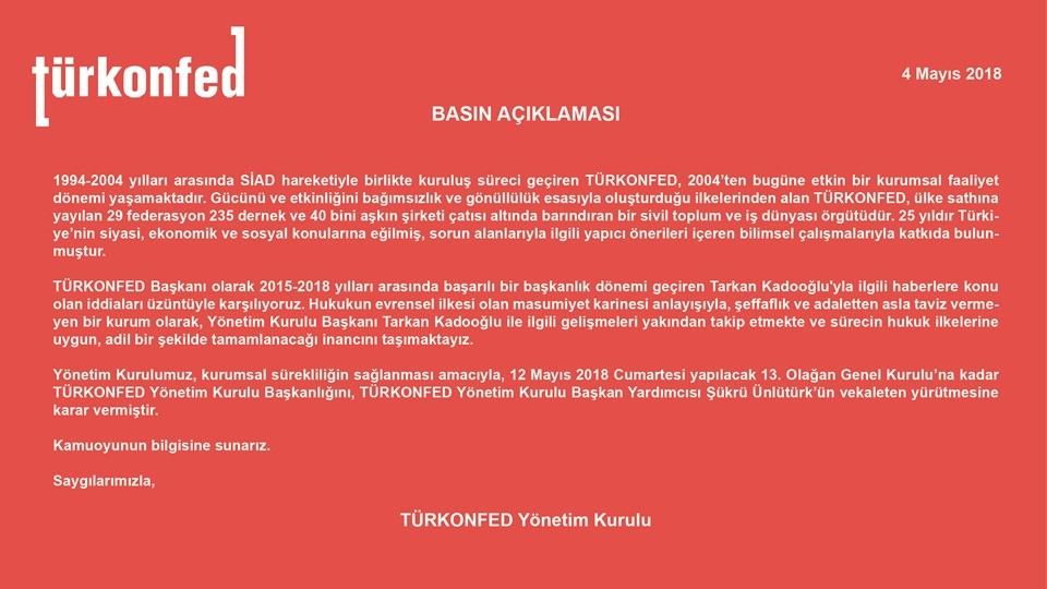TÜRKONFED Yönetim Kurulu Basın Açıklaması-2