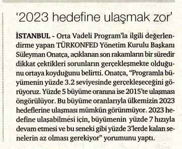 2023 Hedefine Ulaşmak Zor