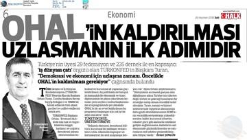TÜRKONFED 24 Haziran  Cumhurbaşkanlığı Hükümet Sistemi ve Milletvekilliği  Seçimleri Açıklaması