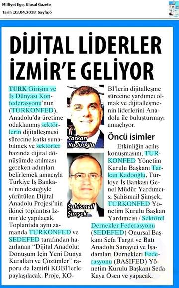 Dijital Anadolu Toplantısı Medya Yansımaları 25 Nisan 2018  İzmir