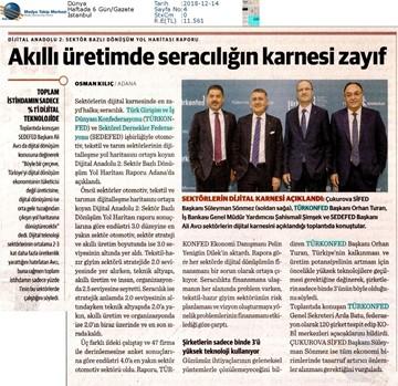 Dijital Anadolu Toplantısı Medya Yansımaları 13 Aralık 2018  Adana