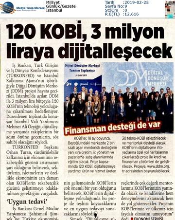 Dijital Dönüşüm Merkezi Tanıtım Toplantısı Medya Yansımaları -26 Şubat 2019  İstanbul