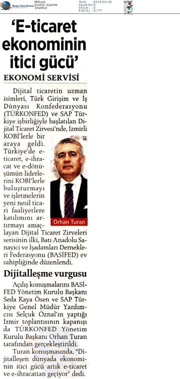 Dijital Ticaret Zirvesi Medya Yansımaları - 16 Nisan 2019  İzmir