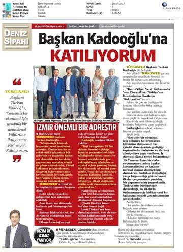İzmir Kent-Bölge Raporu Tanıtım Toplantısı-TÜRKONFEDBASİFED  Medya Yansımaları-28-07-2017