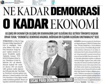 Kalkınma için Yapısal Reformlar Toplantısı Medya Yansımaları 1 Aralık 2018  Nevşehir