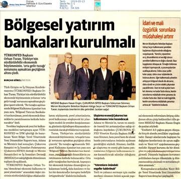 Kent-Bölge Yerel Yönetimde Yeni Dinamikler Medya Yansımaları - 10 Mayıs Mersin