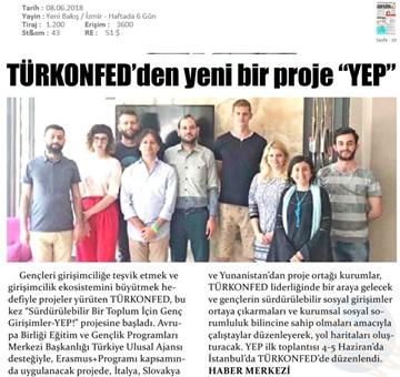 Sürdürülebilir Bir Toplum İçin Genç Girişimciler - YEP Projesi Basın Yansımaları 8 Haziran 2018  İstanbul