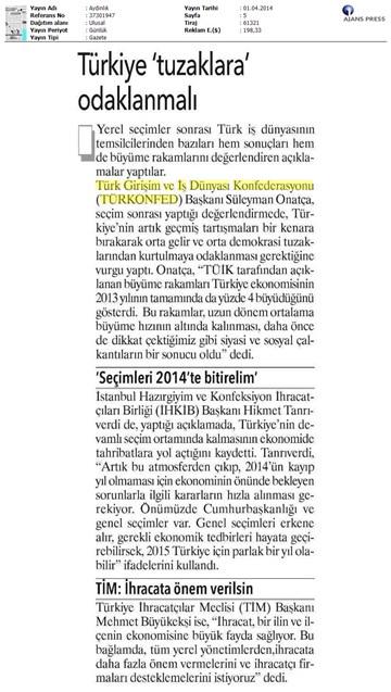 Türkiye tuzaklara odaklanmalı