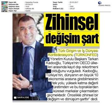 Türkiyede Marka Olmak Çalıştayı Medya Yansımaları  23 Mart 2017-İstanbul