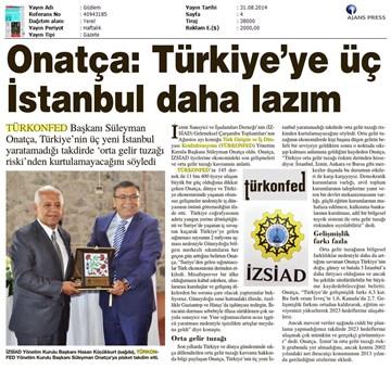 Türkiyeye 3 İstanbul Daha Gerekiyor