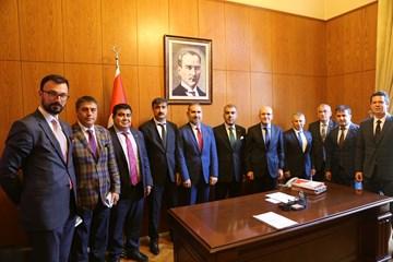 TÜRKONFED Başbakan Yardımcıları ve Bakanlara Politikalarını Anlattı