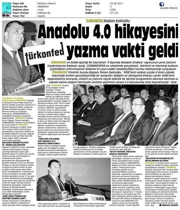TÜRKONFED-GÜNMARSİFED Türkiye İçin Bir Rekabet Endeksi Rapor Tanıtım Toplantısı Medya Yansımaları  5 Ağustos 2017