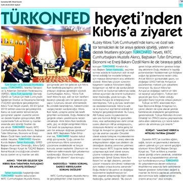 TÜRKONFED Heyeti KKTC Ziyareti Medya Yansımaları 22-24 Şubat 2018  Lefkoşa