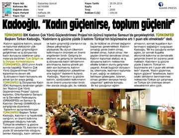 TÜRKONFED İDK Toplantısı  28 Eylül 2016-Samsun