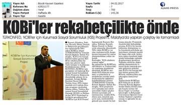 TÜRKONFED KSS Anadolu Çalıştayları Tamamlandı Medya Yansımaları-04022017