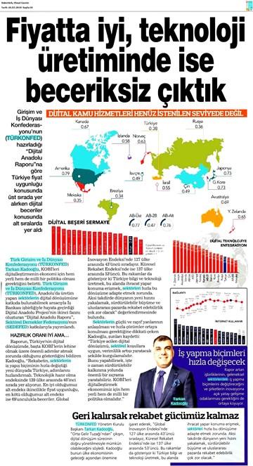 TÜRKONFED  SEDEFED Dijital Anadolu Raporu Medya Yansımaları 26 Mart 2018