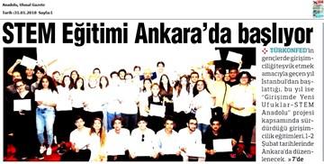 TÜRKONFED STEM Anadolu Ankara Eğitimi Medya Yansımaları 1-2 Şubat 2018  Ankara