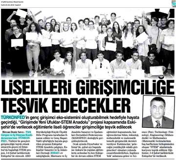 TÜRKONFED STEM Anadolu Eskişehir Eğitimi Medya Yansımaları  2-3 Şubat 2018  Eskişehir