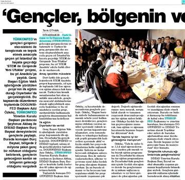 TÜRKONFED STEM Diyarbakır Eğitimi Medya Yansımaları 22 Ocak 2018  Diyarbakır