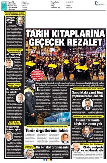 TÜRKONFED Türkiye-Hollanda Diplomatik Kriz Basın Açıklaması-Medya Yansımaları  13 Mart 2017