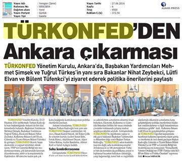 TÜRKONFEDden Ankara Çıkartması
