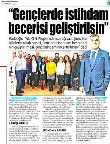 Worth Projesi 3 Uluslararası Toplantısı Medya Yansımaları 21 Şubat 2018  Selanik