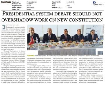 Yeni Anayasaya Doğru Raporu İstanbul Lansman Toplantısı Basın Yansımaları