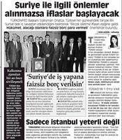 2012 Kasım Suriye Meselesi Üzerine TÜRKONFED'in Yorumu