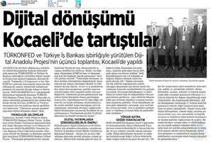 Dijital Anadolu Toplantısı Medya Yansımaları 26 Eylül 2018 / Kocaeli