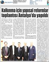 Kalkınma için Yapısal Reformlar Toplantısı Medya Yansımaları - 19 Aralık 2018 / Antalya