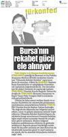 MARSİFED Ev Sahipliğinde Bursa'nın Rekabet Gücü Masaya Yatırılacak-Medya Yansımaları / 3 Ekim 2017