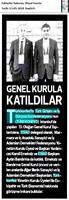 TÜRKONFED 13. Olağan Genel Kurulu Basın Yansımaları 12 Mayıs 2018 / İstanbul