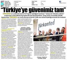 TÜRKONFED-ELITE Programı Türkiye'nin Yükselen Liderleri Raporu Londra Borsası Tanıtımı / 14 Aralık 2017